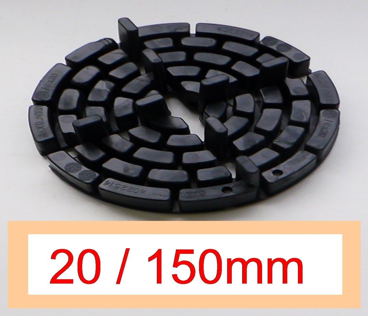 30 plattenlager dd19 10 h he 20mm 150mm fuge 4mm steg 10mm h henverstellbar. Black Bedroom Furniture Sets. Home Design Ideas