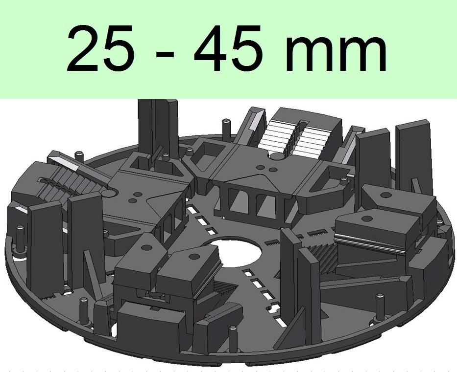 32 stelzlager 25 45mm h henverstellbar plattenlager stellfu terrasse. Black Bedroom Furniture Sets. Home Design Ideas