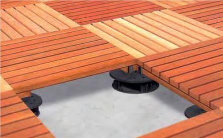 Stelzlager - Holzfliesen terrasse verlegen ...