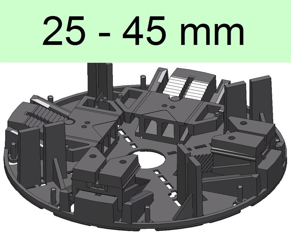 25 St/ück Stelzlager H/öhenverstellbar f/ür Terrassendielen Unterkonstruktion Stellfu/ß 40mm bis 65mm